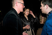 GILES DEACON; ALEXA CHUNG, British Fashion Awards Ceremony. Supported by Swarovski and organised by British Fashion Council. Lawrence Hall. Greycoat St. London SW1. 25 November 2008 *** Local Caption *** -DO NOT ARCHIVE-© Copyright Photograph by Dafydd Jones. 248 Clapham Rd. London SW9 0PZ. Tel 0207 820 0771. www.dafjones.com.