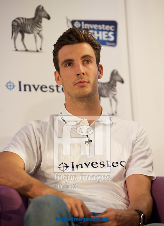England cricketer Steven Finn during the Investec Ashes Press Conference at Investec Bank, City of London<br /> Picture by Alan Stanford/Focus Images Ltd +44 7915 056117<br /> 02/07/2015