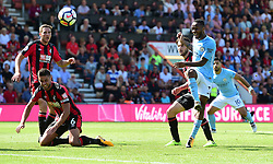 Raheem Sterling of Manchester City score the winning goal. - Mandatory by-line: Alex James/JMP - 26/08/2017 - FOOTBALL - Vitality Stadium - Bournemouth, England - Bournemouth v Manchester City - Premier League