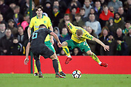 Danny Drinkwater of Chelsea and Alex Pritchard of Norwich in action during the FA Cup match at Carrow Road, Norwich<br /> Picture by Paul Chesterton/Focus Images Ltd +44 7904 640267<br /> 06/01/2018