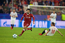 SEVILLE, SPAIN - Tuesday, November 21, 2017: Liverpool's Mohamed Salah during the UEFA Champions League Group E match between Sevilla FC and Liverpool FC at the Estadio Ramón Sánchez Pizjuán. (Pic by David Rawcliffe/Propaganda)