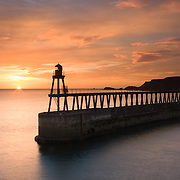 Whitby Harbour at dawn