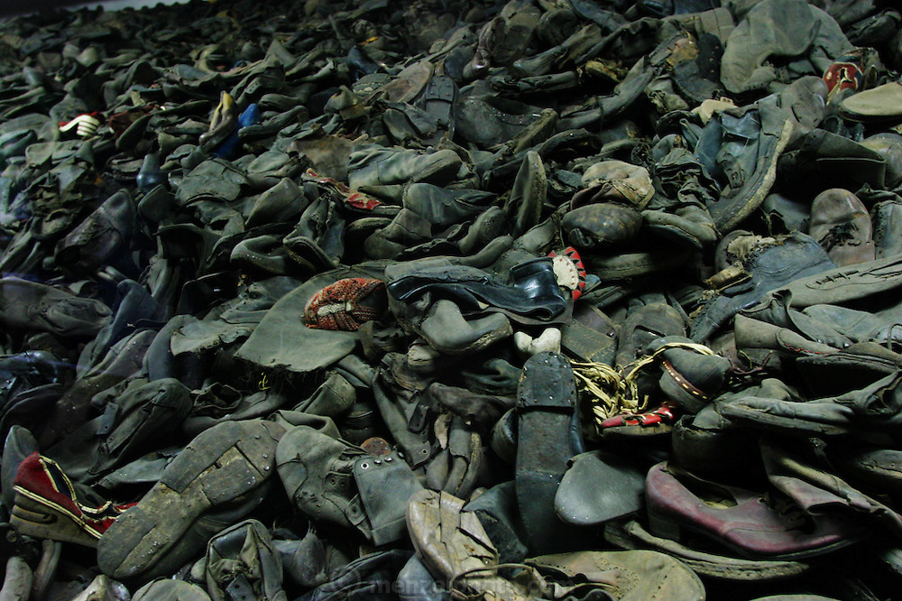 Auschwitz Death Camp, Poland, shoes.