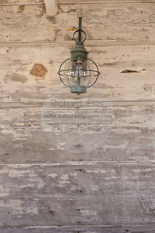 Detail on old clapboard cottage in Dunmore Town, Harbour Island, The Bahamas