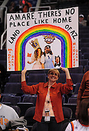 Jan. 7 2011; Phoenix, AZ, USA; A fan holds up a sign prior to the Phoenix Suns hosting the New York Knicks at the US Airways Center. Mandatory Credit: Jennifer Stewart-US PRESSWIRE.