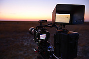 Using the Sony A7s camera to film in low light conditions on Liuwa Plain.