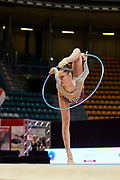 Vlada Nikolchenko from the Armonia D'Abruzzo team during the Italian Rhythmic Gymnastics Championship in Bologna, 9 February 2019.