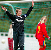 Fotball NM semifinale kvinner. Røa - Arna Bjørnar 1-3. Ingrid Camilla Fosse Sæthre jubler for 1-3 og punktering av kampen.<br /> <br /> Foto: Andreas Fadum, Digitalsport