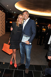 JONATHAN & HAYLEY SIEFF at the launch of Samsung's NX Smart Camera at charity auction with David Bailey in aid of Marie Curie Cancer Care at the Bulgari Hotel, 171 Knightsbridge, London on 14th May 2013.