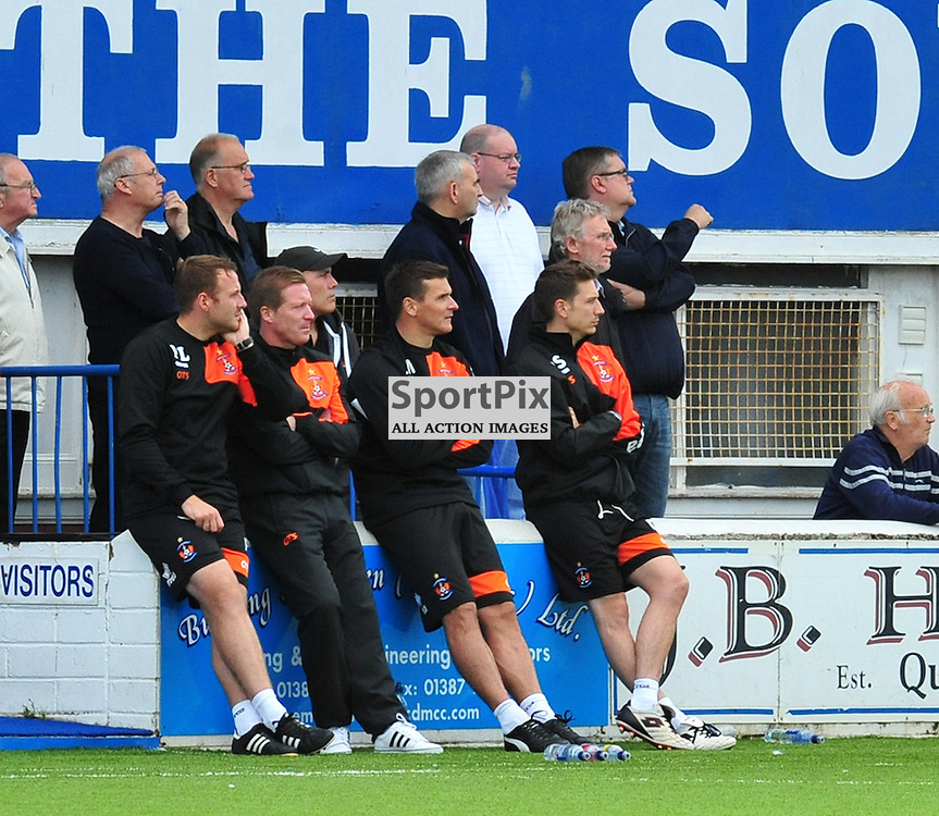Lee McCulloch watches his new club Killie in action against Queen of the South<br /> <br /> (c) BILLY WHITE | SportPix.org.uk