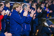 Bradford City Manager Stuart McCall leads the applause for late Bobby Campbell during the EFL Sky Bet League 1 match between Bradford City and Northampton Town at the Coral Windows Stadium, Bradford, England on 22 November 2016. Photo by Simon Davies.