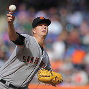 NEW YORK, NEW YORK - APRIL 30:  Pitcher Matt Cain #18 of the San Francisco Giants pitching during the New York Mets Vs San Francisco Giants MLB regular season game at Citi Field on April 30, 2016 in New York City. (Photo by Tim Clayton/Corbis via Getty Images)