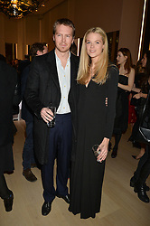 GABRIELLA WILDE and ALAN POWNALL at Fashions for The Future presented by Oceana's Junior Council held at Phillips Auction House, 30 Berkeley Square, London on 19th March 2015.