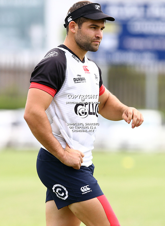 Cobus Reinach during The Cell C Sharks training session at Growthpoint Kings Park in Durban, South Africa. 13th March 2017(Photo by Steve Haag)<br /> <br /> images for social media must have consent from Steve Haag