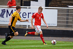 MERTHYR TYDFIL, WALES - Thursday, November 2, 2017: Wales' Harri Horwood during an Under-18 Academy Representative Friendly match between Wales and Newport County at Penydarren Park. (Pic by David Rawcliffe/Propaganda)