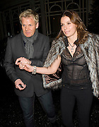 08.DECEMBER.2009 - LONDON<br /> <br /> CELEBRITY CHEF GORDON RAMSEY AND HIS WIFE TANA LEAVE THE CONNAUGHT HOTEL AFTER ATTENDING THE HARPERS BIZARRE PRIVATE DINNER.<br /> <br /> BYLINE MUST READ: EDBIMAGEARCHIVE.COM<br /> <br /> *THIS IMAGE IS STRICTLY FOR UK NEWSPAPERS &amp; MAGAZINES ONLY*<br /> *FOR WORLDWIDE SALES &amp; WEB USE PLEASE CONTACT EDBIMAGEARCHIVE-0208 954 5968*
