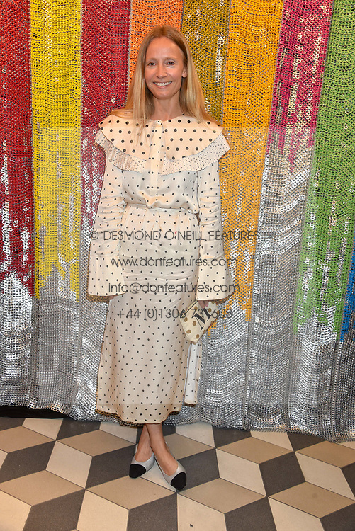 Martha Ward at a cocktail supper hosted by BOTTLETOP co-founders Cameron Saul & Oliver Wayman, along with Arizona Muse, Richard Curtis & Livia Firth to launch the #TOGETHERBAND campaign at The Quadrant Arcade on April 24, 2019 in London, England.<br /> <br /> ***For fees please contact us prior to publication***
