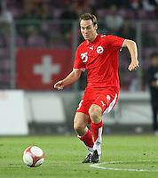 Fussball International Laenderspiel Schweiz 2-0 Costa Rica Steven von Bergen (SUI) am Ball