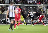 Jorge Grant of Notts County scores the second goal of the game during the Sky Bet League 2 match at Meadow Lane, Nottingham<br /> Picture by James Wilson/Focus Images Ltd 07522 978714‬‬<br /> 25/08/2017