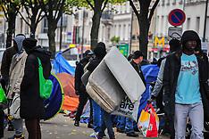 Paris: Migrants Settle In Makeshift Camps, 28 Oct. 2016