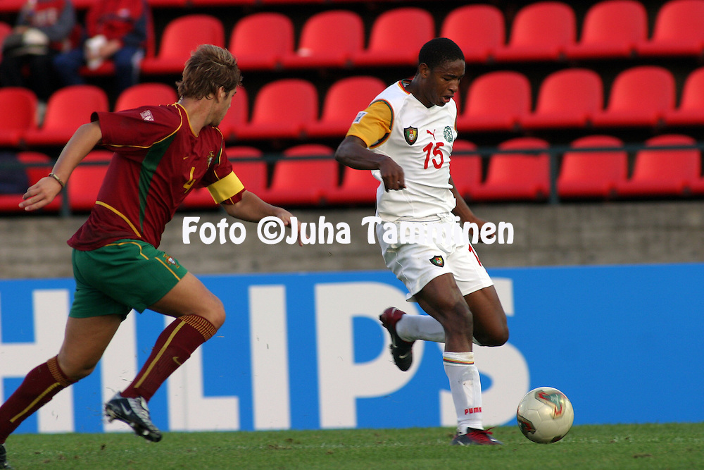 20.08.2003, Ratina Stadium, Tampere, Finland.FIFA U-17 World Championship - Finland 2003.Match 22: Group C - Portugal v Cameroon.Joseph Mawaye - Cameroon.©Juha Tamminen