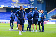 AFC Wimbledon players inspect the pitch during the EFL Sky Bet League 1 match between Ipswich Town and AFC Wimbledon at Portman Road, Ipswich, England on 20 August 2019.