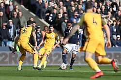 Mahlon Romeo of Millwall passes the  ball - Mandatory by-line: Arron Gent/JMP - 17/03/2019 - FOOTBALL - The Den - London, England - Millwall v Brighton and Hove Albion - Emirates FA Cup Quarter Final