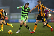 Forest Green Rovers Dayle Grubb(8) runs forward during the EFL Sky Bet League 2 match between Forest Green Rovers and Cambridge United at the New Lawn, Forest Green, United Kingdom on 20 January 2018. Photo by Shane Healey.