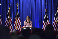 Melanie Trump stumps in Chester County for her husband Rep. presidential candidate Donald Trump at a rally in Berwyn, PA, on Thursday.
