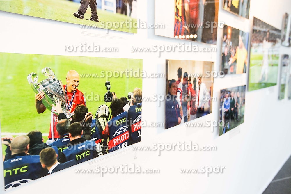 Zinedine Zidane at photo exhibition in the city centre prior to the football match between Real Madrid (ESP) and Atlético Madrid (ESP) in Final of UEFA Champions League, on May 28, 2016 in Doumo, Milan, Italy. Photo by Vid Ponikvar / Sportida