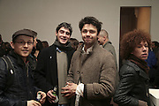 Timur Khan and Conrad Shawcross, TWO LEGS BAD, FOUR LEGS GOOD, Jake & Dinos Chapman. PARADISE ROW, 17 Hereford Street. London E2 . 9 February 2007.  -DO NOT ARCHIVE-© Copyright Photograph by Dafydd Jones. 248 Clapham Rd. London SW9 0PZ. Tel 0207 820 0771. www.dafjones.com.