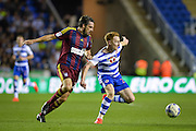 Ipswich Town Midfielder, Jonathan Douglas (22) and Reading Midfielder, Stephen Quinn (21) during the EFL Sky Bet Championship match between Reading and Ipswich Town at the Madejski Stadium, Reading, England on 9 September 2016. Photo by Adam Rivers.