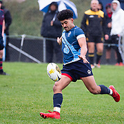 Action during the rugby union game played between Aotea College 1s XV v Hutt International Boys' School (HIBS) 1st XV  played at  Aotea,, Wellington, New Zealand, on 15 June 2019.   Final score 8-7 to HIBS.