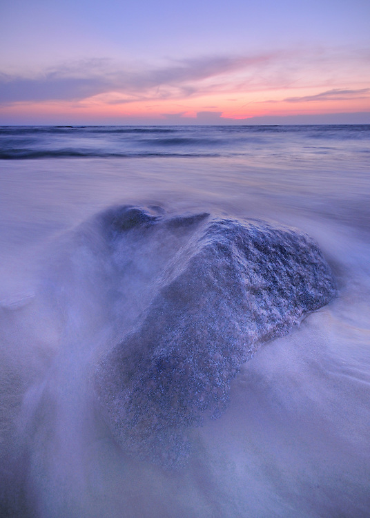 A 1.5 second exposure creates a ghostly look on Lake Michigan at Point Betsie.