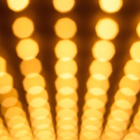 Casino lights. Broadway theater or casino style lights in rows out of focus high resolution photo.