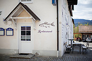 A close restaurant in the city of  Bayerisch Einsenstein after the corona virus outbreak changed our public lifes.