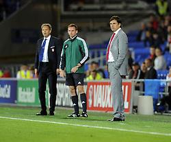 Wales Manger, Chris Coleman  - Photo mandatory by-line: Joe Meredith/JMP - Tel: Mobile: 07966 386802 10/09/2013 - SPORT - FOOTBALL - Cardiff City Stadium - Cardiff -  Wales V Serbia- World Cup Qualifier