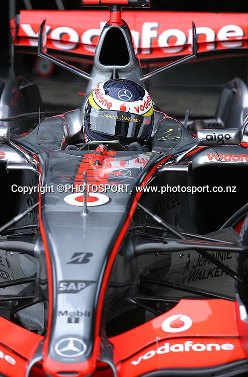 Pedro De La Rosa (esp) - McLaren Mercedes - Essais Essai - Jerez - 07.02.2007 - Formule1 Formule 1 F1 F 1 - hauteur action mac maclaren mc laren