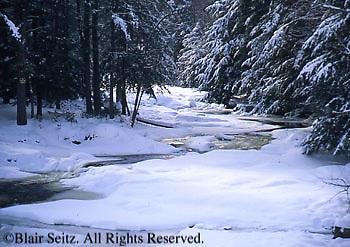 Northeast PA Landscape, Snow, Bear Creek, NE PA
