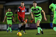 Forest Green Rovers Paul Digby(20) on the ball during the EFL Sky Bet League 2 match between Forest Green Rovers and Grimsby Town FC at the New Lawn, Forest Green, United Kingdom on 22 January 2019.