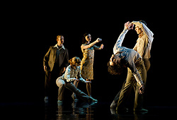"© Copyright licensed to London News Pictures. 08/11/2010. Rambert Dance Company presents ""Awakenings', based on the book by Oliver Sachs, at Sadler's Wells, London. Choreographed by Aletta Collins, and with a specially-commissioned score by American composer, Tobias Picker, this is a premiere for London. The company are: Angela Towler, Pieter Symonds, Gemma Nixon, Thomasin Gulgec, Jonathan Goddard, Robin Gladwin, Malgorzat Dzierzon, Eryck Brahmania. Commissioned by Daniel Katz Limited. Lighting design by Yaron Abulafia. Design by Miriam buether."