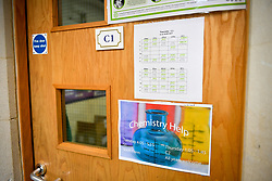 The entrance door to a chemistry lab classroom at Royal High School Bath, which is a day and boarding school for girls aged 3-18 and also part of The Girls' Day School Trust, the leading network of independent girls' schools in the UK.