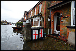 floods hit Egham, United Kingdom, Wednesday, 12th February 2014. Picture by Andrew Parsons / i-Images