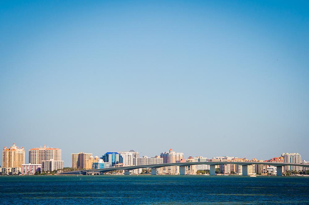 SARASOTA, FL -- October 2012 -- Downtown Sarasota is seen from Ken Thompson Park on City Island in Sarasota, Florida.  (PHOTO / CHIP LITHERLAND)