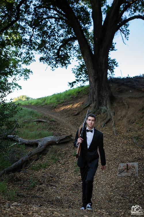 John Serena poses for his senior portrait at his home in San Jose, California, on April 26, 2013. (Stan Olszewski/SOSKIphoto)