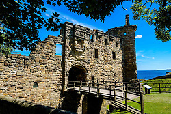 The main entrance to St Andrews Castle, St Andrews, Fife, Scotland<br /> <br /> (c) Andrew Wilson | Edinburgh Elite media