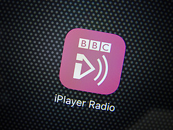 BBC IPlayer Radio streaming app on an iPhone 6 Plus smart phone