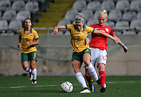 Fifa Womans World Cup Canada 2015 - Preview //<br /> Cyprus Cup 2015 Tournament ( Gsp Stadium Nicosia - Cyprus ) - <br /> Australia vs England 0-3   //  Katie Chapman of England (R) , challenges with Alanna Kennedy of Australia (L)
