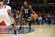 DALLAS, TX - JANUARY 7: Kevin Johnson #25 of the Cincinnati Bearcats brings the ball up court against the SMU Mustangs on January 7, 2016 at Moody Coliseum in Dallas, Texas.  (Photo by Cooper Neill/Getty Images) *** Local Caption *** Kevin Johnson