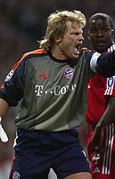 10/3/2004 Madrid, Spain.<br />Champions League,  8round, 2 Leg.<br />R.Madrid 1 - Bayern 0<br />Bayern's Oliver Kahn at Santiago Bernabeu's Stadium.<br />© 2004 Alejandro leon Fernandez